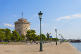 The white tower at Thessaloniki city in Greece - 44740679