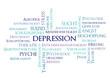 Depression blau
