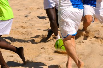 Fussball im Sand