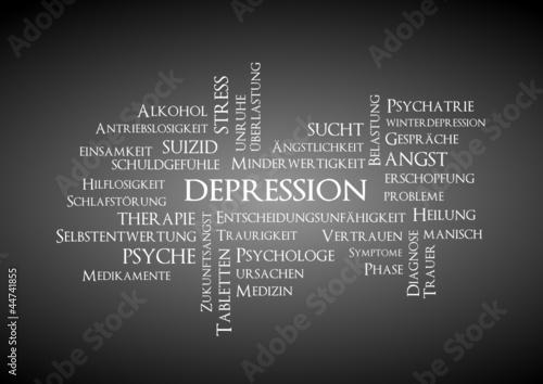 Depression Stichwortwolke
