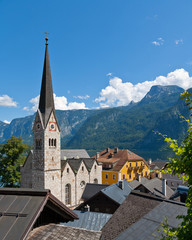Church Tower in Hallstatt, Austria