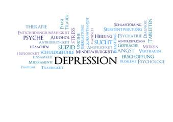 Depression Banner Tagcloud