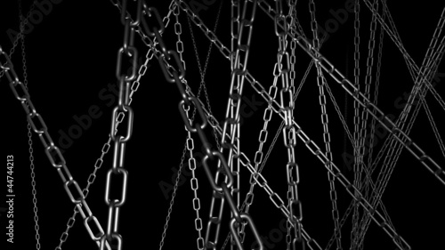 Chains long version strobe, chains move slower looping