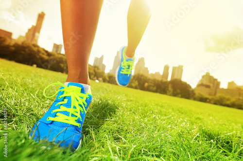 canvas print picture Runner - running shoes closeup