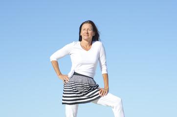 Happy active senior woman outdoor