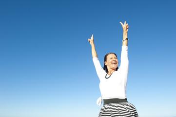 Happy optimistic mature woman
