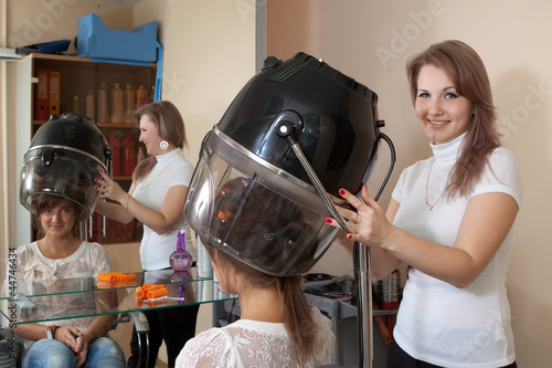 Female hair stylist
