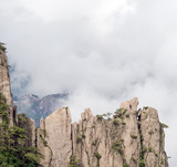 Cloudscape image of  Huangshan, Foggy day, Huang Shan