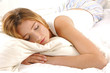 Beautiful woman lying and sleep on bed