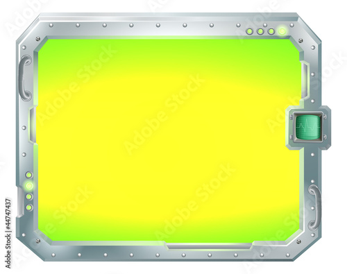 Futuristic screen or sign border frame