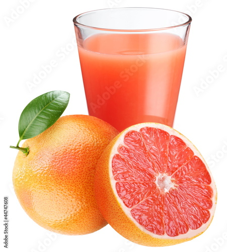 Grapefruit juice with ripe grapefruit