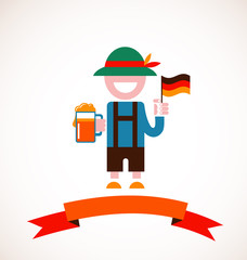 Oktoberfest background - man with beer