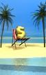 dollar sous les palmiers