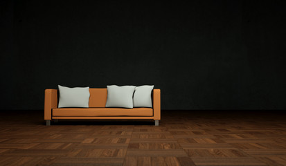 Wohndesign - Sofa orange