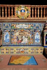 Tiled bench, Plaza de Espana, Seville © Arena Photo UK