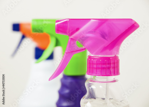 Three different colors sprayers