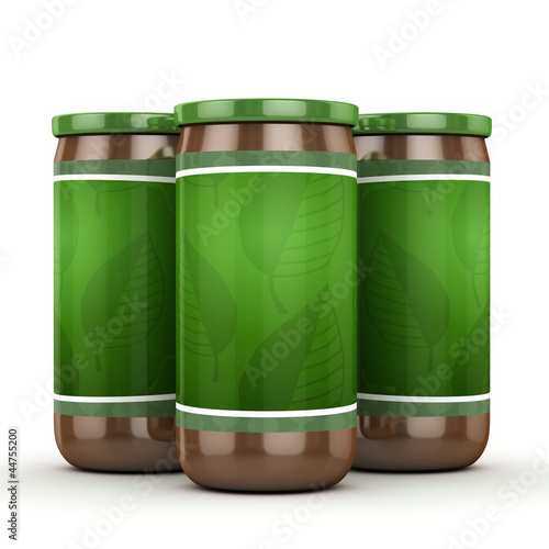 3d green jar isolated