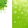 Green Eco Background With Blur And Blob