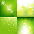 Green Eco Background With Blur Set