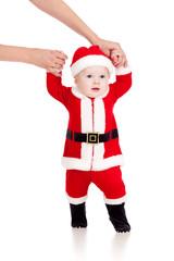 first steps of Santa claus kid