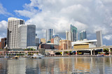 Darling Harbour on a Cloudy Day poster