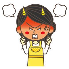 激怒する主婦