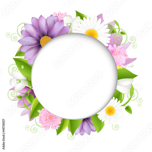 Summer illustration With Color Flower