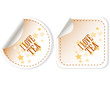 I love tea stickers vector set for restaurant