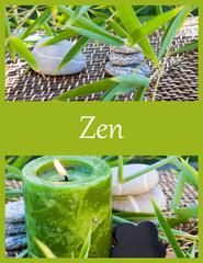 composition style carte zen