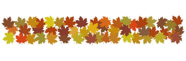 Bande de feuilles aux couleurs de l'automne
