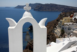 Architecture of Oia at Santorini island, Greece