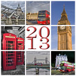 2013, collage Londres couleur
