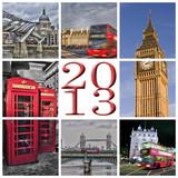 2013, collage Londres couleur