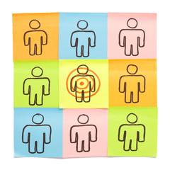 Sticky Notes Target Your Customers
