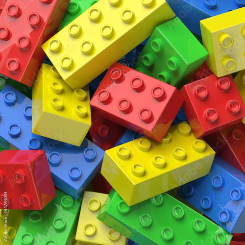 Colorful plastic blocks