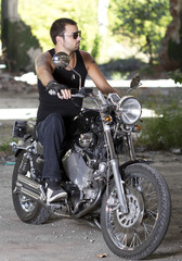 Rebel motorcycle rider