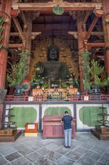 Buddha in Todai-ji Temple in Nara, Japan