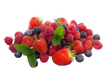 Mixed berries - strawberries, raspberries and blueberries
