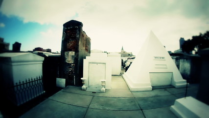 Stylized New Orleans Cemetery