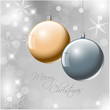 Vector Christmas realistic baubles