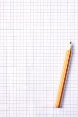 foglio a quadri con matita
