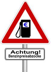 Achtung! Benzinpreisabzocke