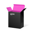 Software Package Box Opened Black Inside Pink Violet Purple