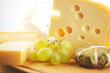 cheese and grape close up