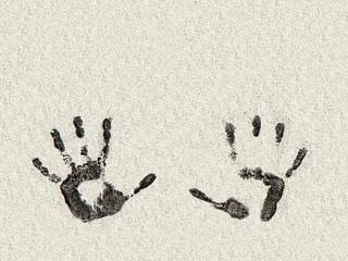 zwei schwarze hände