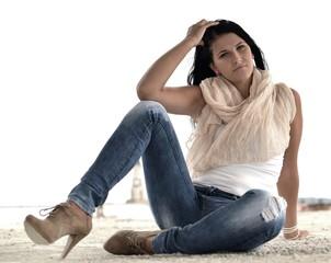 femme en jean