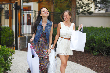 Two woman shopping