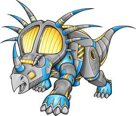 Robot Machine Triceratops Dinosaur Vector