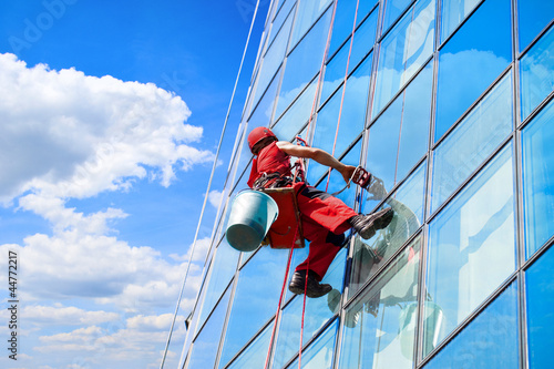 Window washer high office building - 44772217