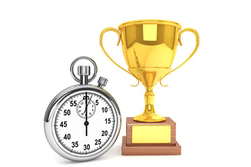 Stopwatch with Trophy